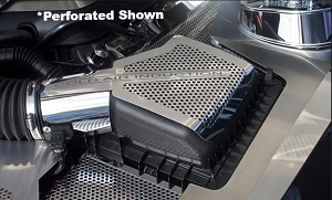 2011-2013 Ford Mustang GT 5.0 Polished Stainless Steel 2pc Air Box Cover