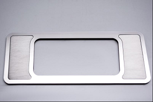2010-2014 Ford Raptor Brushed Stainless Steel Interior Dim Switch Trim Plate