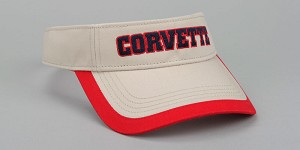 Corvette 1963-2019 Washed Twill Two Color Visor