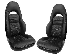 C5 Corvette 1997-2004 Leather-Like Vinyl Seat Covers - Solid Colors