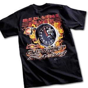 Chevrolet Racing Red Line Fever T-Shirt - Black