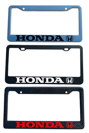 Honda Brand Script License Plate Frame - Color/Finish Selections