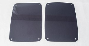 2007-2018 Jeep Wrangler JK / JKU Blackout Plexi Taillight Covers - 2 pieces