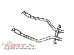 2012-2013 Ford Mustang GT MRT Maxflow H-Pipe with Race Cats