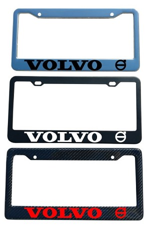 Volvo Brand Script License Plate Frame - Color/Finish Selections