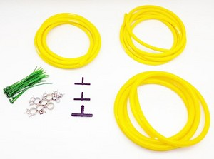 Colored Silicone Vacuum Hose Dress Up Kit for ALL Ford Models - 3mm / 4mm / 8mm Hose & Connectors