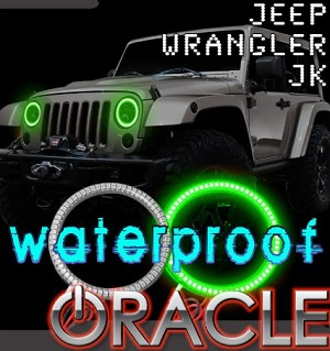 2007-2017 Jeep Wrangler JK Oracle LED Headlight Halo Kit- Waterproof - Color Options