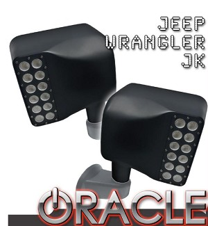 2007-2018 Jeep Wrangler JK Oracle LED Off-Road Side Mirrors