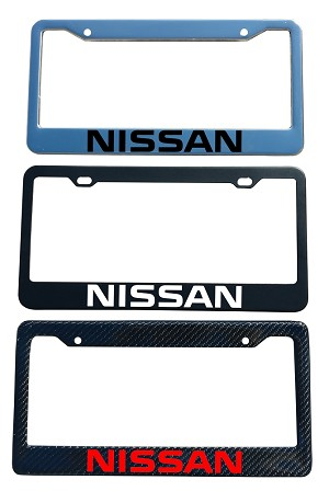 Nissan Brand Script License Plate Frame - Color/Finish Selections