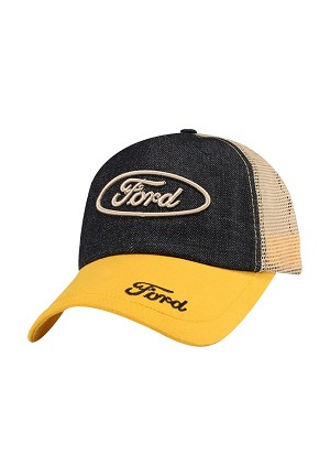 6cdd5010459 Ford Unstructured Hat With Mesh Back - Yellow