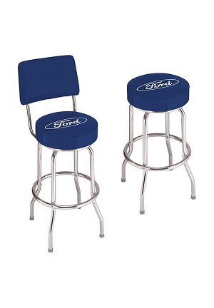 Ford Oval Logo Counter Stool Modern Gen Auto